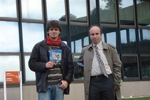Sur la photo : Gael et Damien Perrotin (militant à la section de Sant-Nazer de l'UDB)