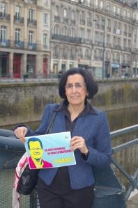 Ghania Boucekkine, universitaire-chimiste retraitée, membre du comité de soutien rennais de la liste La Bretagne pour une Europe sociale.