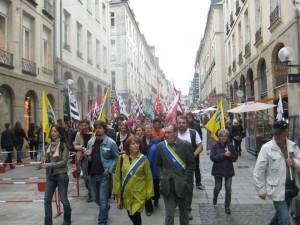 Manifestation à Rennes le  14 Mai 2014 pour la réunification de la Bretagne.